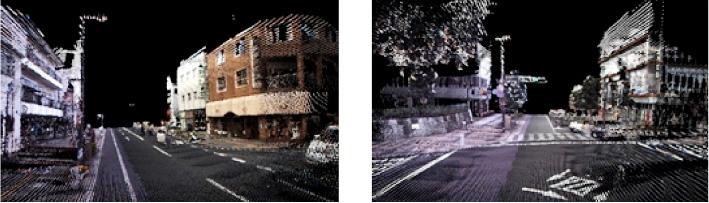 宇都宮市内走行時の色付点群データphoto