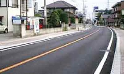 小山市役所 あんしん歩行エリア2168号線